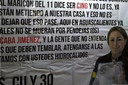 Mensajes amenazantes del Cártel de Sinaloa ligaron a la alcaldesa de Aguascalientes con el CJNG (Foto: Especial)
