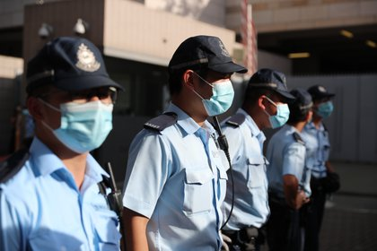 06/07/2020 La Policía de Hong Kong con mascarillas. POLITICA INTERNACIONAL May James/ZUMA Wire/dpa