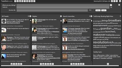 TweetDeck permite seguir varias líneas de tiempo a la vez y podría dejar de ser gratuito