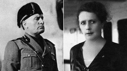 Margherita Sarfatti había conocido a Mussolini en Milán en 1912, cuando lo designaron director del periódico socialista Avanti, del que ella era crítica de arte. Tenía 32 años y él, 29. En 1913 comenzaron a ser amantes, a pesar de que Mussolini ya convivía con quien sería su única esposa, Rachele Guidi (Shutterstock y Mart Museum)