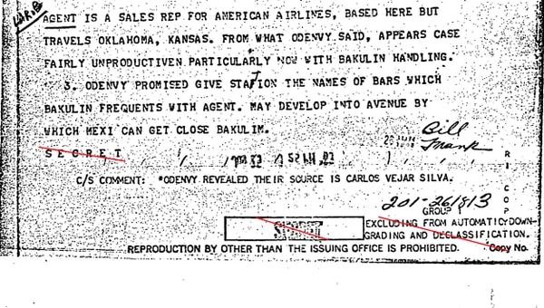 La CIA en busca de una lista de bares en México, D.F.