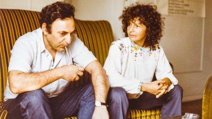 Juan José Saer y Beatriz Sarlo, en los años 80.