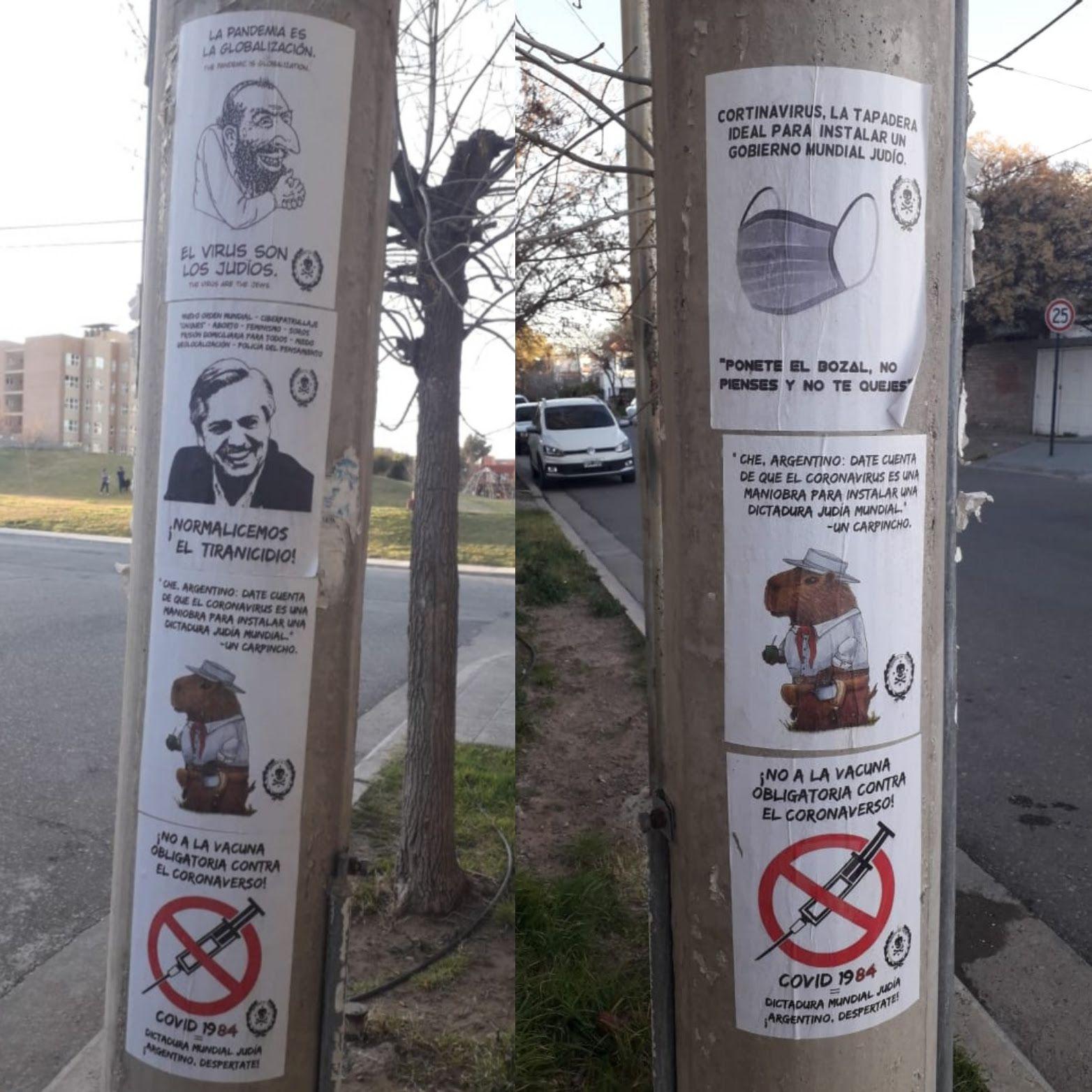 Cartel antisemita Neuquén