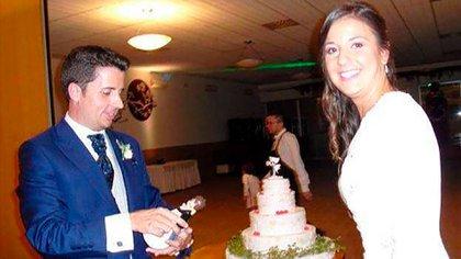 3 de septiembre de 2016, la boda de Maje con Antonio. Un año después, él moriría acuchillado