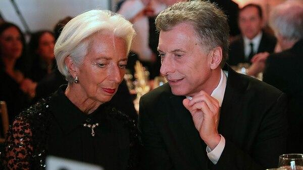 Mauricio Macri y Christine Lagarde compartieron una cena de gala en Nueva York