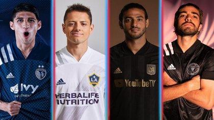 Alan Pulido, Chicharito, Carlos Vela y Rodolfo Pizarro son las principales figuras mexicanas de la liga (Foto: Especial)