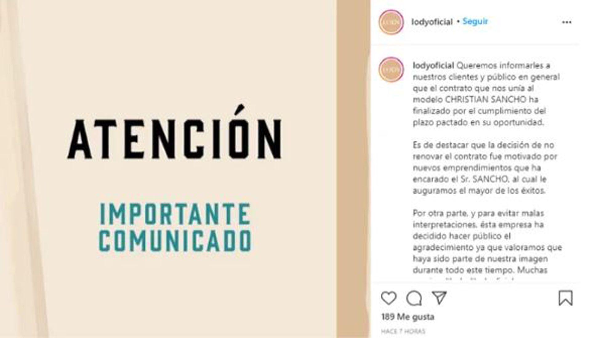Christian Sancho (Foto: Instagram)