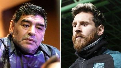 Diego Armando Maradona y Lionel Messi, dos de los mejores jugadores de la historia