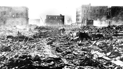 Hiroshima después de la bomba atómica (Hiroshima Peace Memorial Museum)