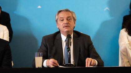 Alberto Fernández calculó cada detalle de la presentación del gabinete (Franco Fafasuli)