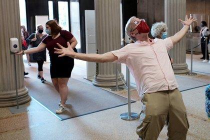 Imagen de la reapertura del Museo Metropolitano de Nueva York durante el pasado 27 de agosto. La alegría por estos lares será la misma