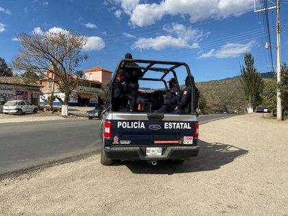 21/03/2021 Policía mexicana en la frontera. POLITICA CENTROAMÉRICA MÉXICO POLICÍA DEL ESTADO DE OAXACA, MÉXICO