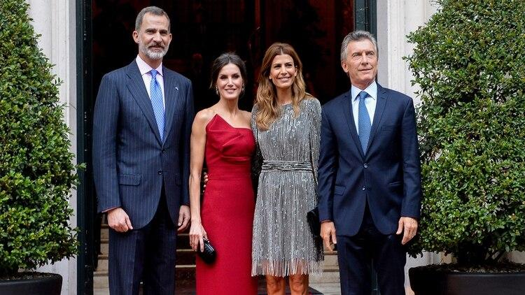 En marzo de este año, los reyes de España, Felipe VI y Letizia, ofrecieron una recepción en honor al presidente Mauricio Macri y la primera dama, Juliana Awada, en el hotel Four Seasons.