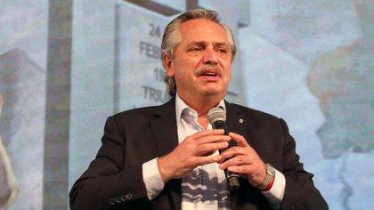 El presidente Alberto Fernández encabezó el acto en la CGT