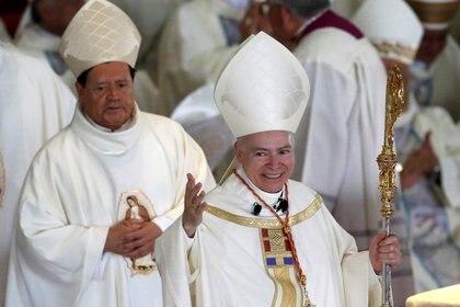 El cardenal Carlos Aguiar Retes no solamente le negó el pago de gastos médicos, sino que tampoco ha apoyado a Rivera Carrera de manera espiritual (REUTERS/Henry Romero)