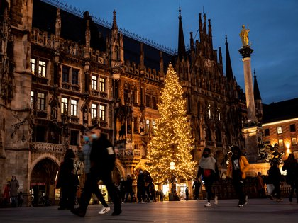 Una imagen de la plaza Marienplatz de Munich, este martes. EFE/EPA/LUKAS BARTH-TUTTAS