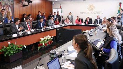 La comisiones unidas del Senado votaron a favor del dictamen en lo general, con siete votos en contra y seis abstenciones (Foto: Senado de la República)