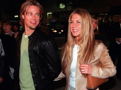 Jennifer Aniston y Brad Pitt (AP)