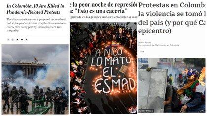 Algunos medios registran el complejo momento que atraviesa Colombia. Foto: medios.