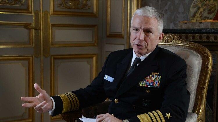 El almirante Craig Faller del Comando Sur de los Estados Unidos