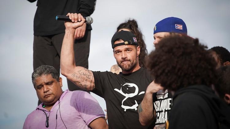 Ricky Martin encabezó las protestas en Puerto Rico