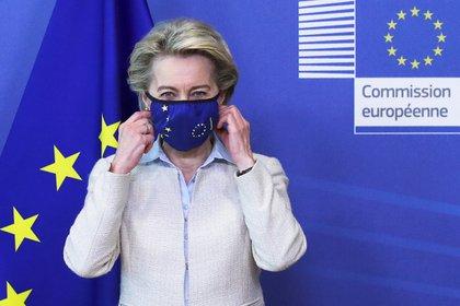 La presidenta de la Comisión Europea (CE), Ursula von der Leyen. EFE/EPA/YVES HERMAN