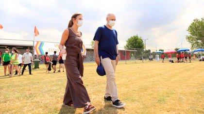 El jefe de gobierno Horacio Rodríguez Larreta y su ministra de Educación, Soledad Acuña, presentaron el plan de regreso a clases