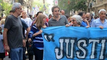 El juez Alejo Ramos Padilla en una marcha de Justicia Legítima (@JusticiaLegítima)