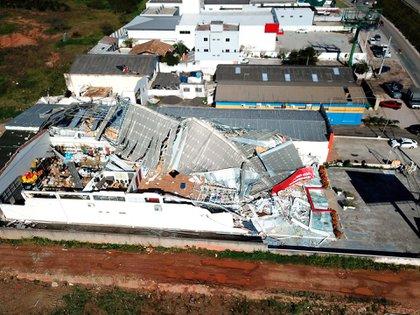 Imagen impactante de los destrozos