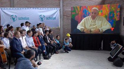La videoconferencia del Papa con Rodríguez Larreta
