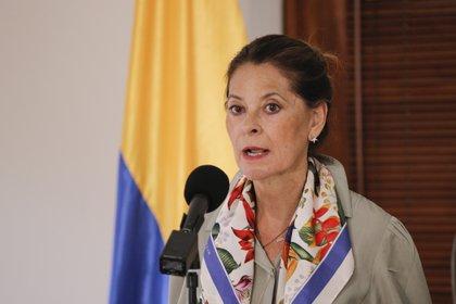 La vicepresidenta de Colombia, Marta Lucía Ramírez tiene semanas para definir su participación en la contienda electoral (EFE/ Juan Páez/ archivo)