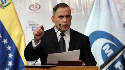 Venezuela's chief prosecutor Tarek William Saab holds a news conference in Caracas, Venezuela May 8, 2020. REUTERS/Manaure Quintero