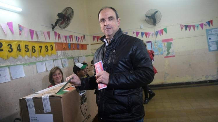 El candidato de Cambiemos en Santa Fe, José Corral (Carolina Niklison)
