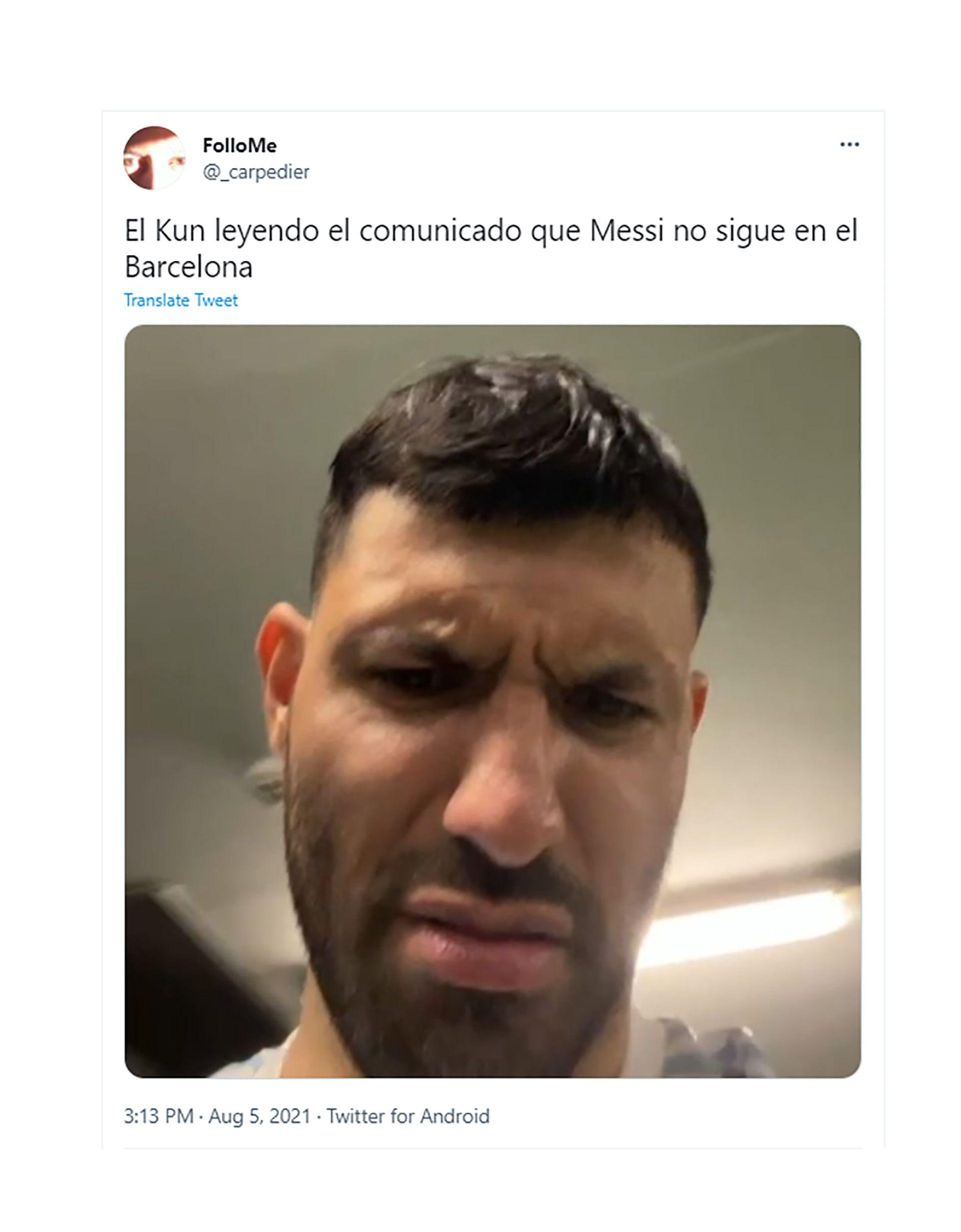 memes por la salida de Messi del Barcelona