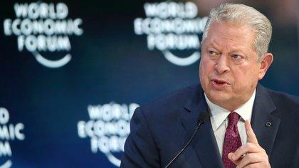 Ex vicepreisdnete Al Gore en el foro de Davos (REUTERS/Denis Balibouse)