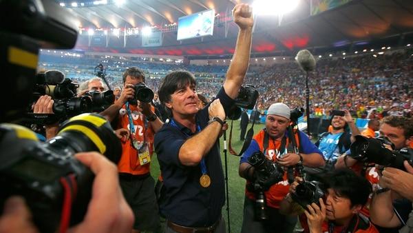 Löw fue campeón del mundo con Alemania en el Mundial de Brasil 2014 (Getty Images)