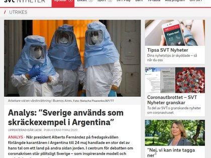 """Con el título """"Suecia se usa como un ejemplo de terror en Argentina"""", el periodista Tigran Feiler, enviado de la Sveriges Televisión (conocida por sus siglas SVT) en la región, expresó su sorpresa ante la mención negativa de Alberto Fernández sobre el modelo sueco."""