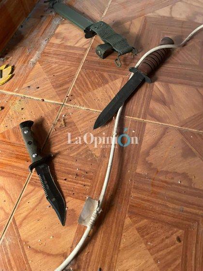 Los cuchillos encontrados tres años después @laopinionaustral