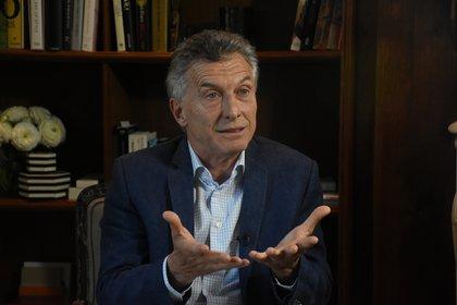 """Mauricio Macri cree que a Alberto Fernández """"sólo le importa la impunidad de Cristina Kirchner"""" (Foto Nicolás Stulberg)"""