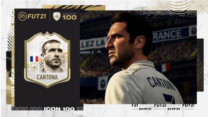 El francés Eric Cantona, entre otras leyendas, se suma a la nueva entrega de FIFA 21 Ultimate Team.