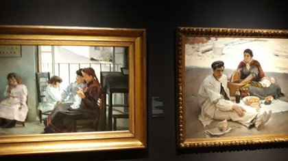 Obras  de la exposición 'Las invitadas' en el Museo del Prado