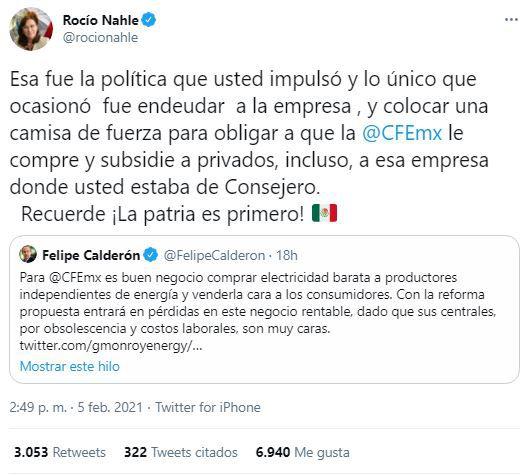 Rocío Nahle vs Felipe Calderón