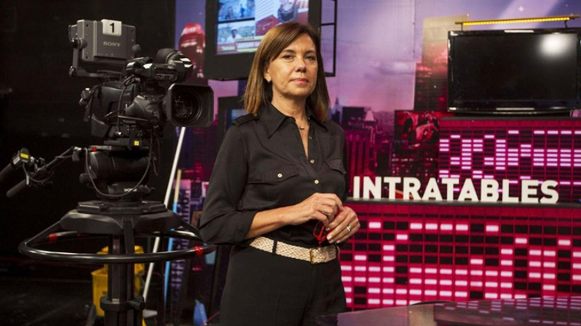 """Liliana Parodi detrás de cámara en el estudio de """"Intratables"""""""
