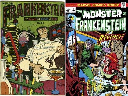 Dos versiones en cómic