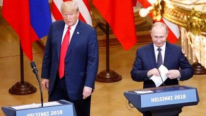 El presidente de Estados Unidos, Donald Trump, junto a su par ruso Vladimir Putin (Reuters)