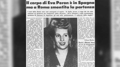 Un diario italiano, donde se indicaba que ya había sido trasladado a España aunque oficialmente se desmentía el hecho