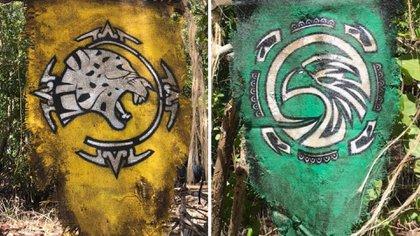Estos son los banderines de las tribus de Survivor: Halcones y Jaguares (Foto: Instagram@dlimongerzso)
