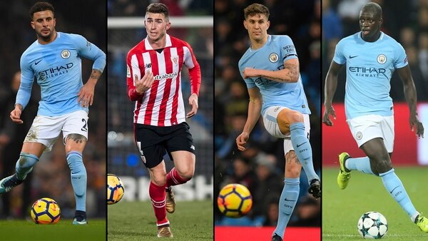 Walker, Laporte, Stones y Mendy, la defensa de lujo de Guardiola (Getty)