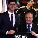 (Reuters) Courtois firmó hasta 2023 con el Real Madrid