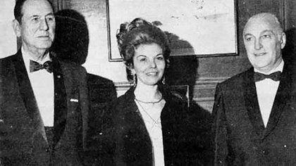 López Rega con Perón e Isabel.